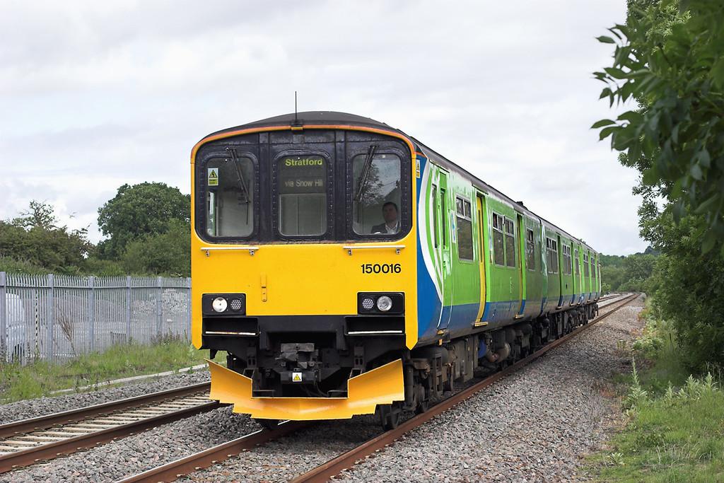 150016 Danzey 7/6/2011<br /> 2S30 1055 Stourbridge Junction-Stratford upon Avon
