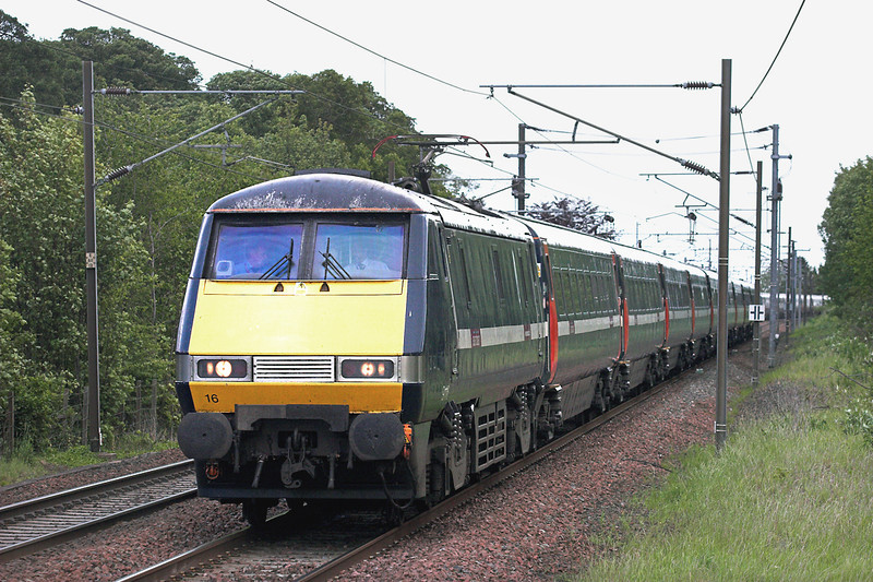 91116 Longniddry 9/6/2011<br /> 1S07 0800 London Kings Cross-Edinburgh