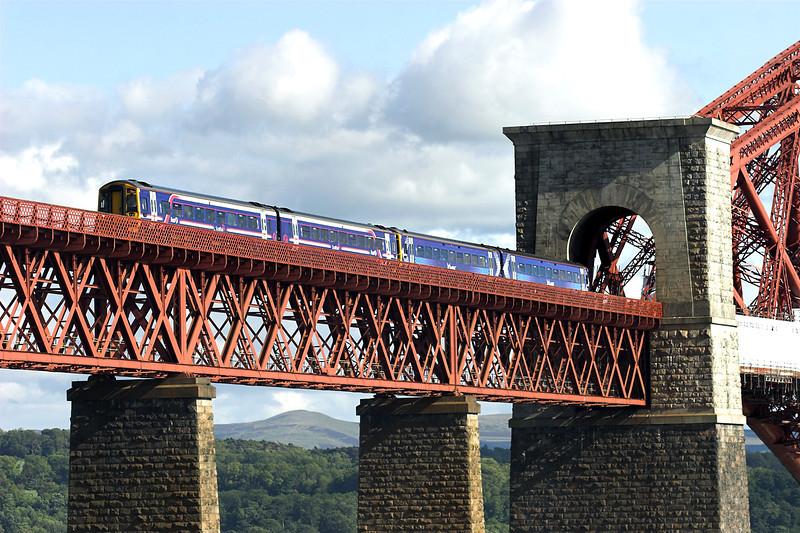 158720 and 158867, North Queensferry 9/6/2011<br /> 1L11 1709 Edinburgh-Carnoustie