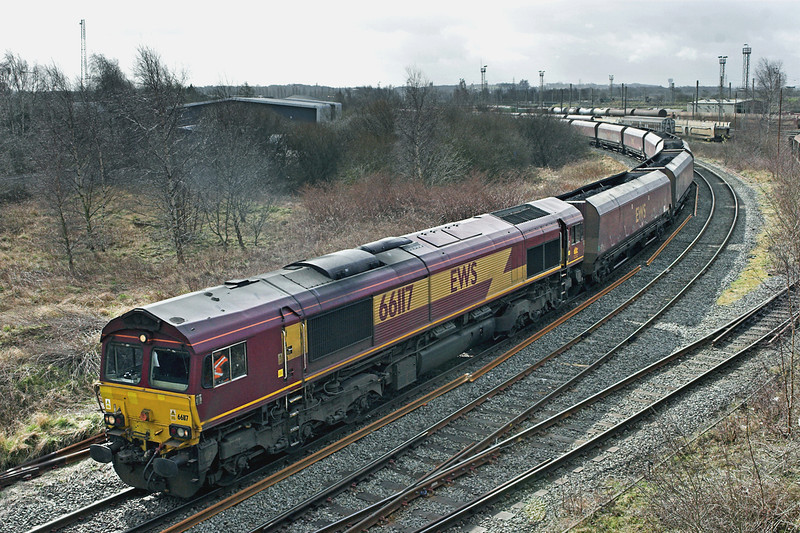 66117 Warrington Arpley 10/3/2011<br /> 6F81 0914 Liverpool Bulk Terminal-Fiddlers Ferry PS