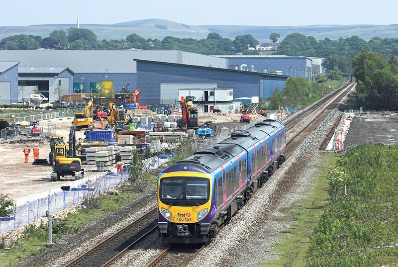 185151 Buckshaw Parkway 14/6/2011<br /> 1N63 1329 Manchester Airport-Blackpool North