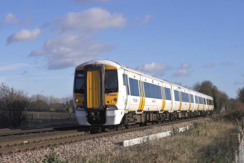 375602 Minster East Junction 15/12/2011<br /> 2W42 1240 Ramsgate-London Charing Cross