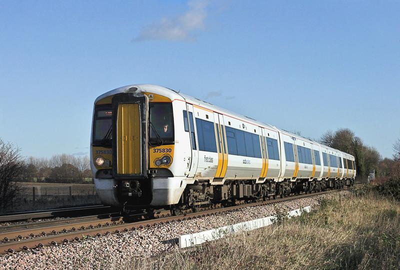 375830 Minster East Junction 15/12/2011<br /> 2W41 1222 Ramsgate-London Charing Cross