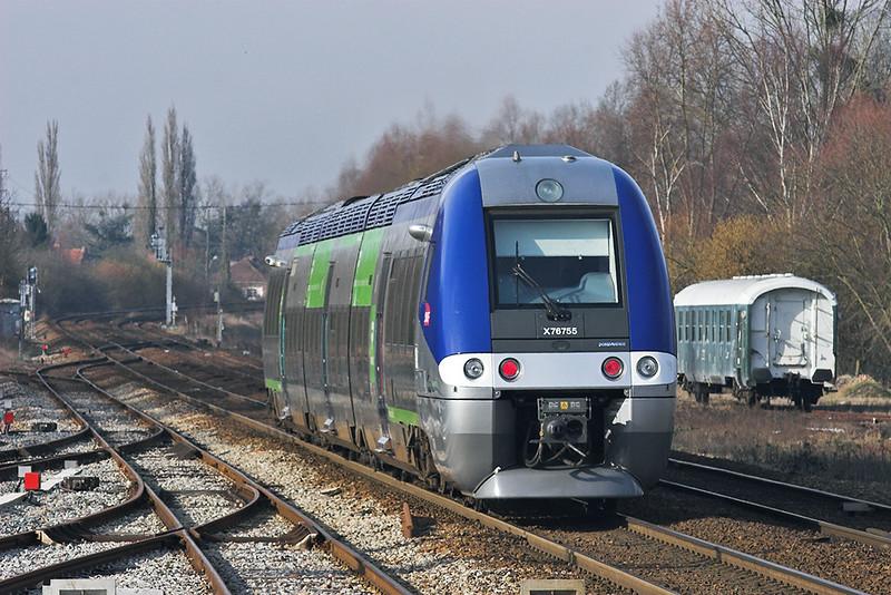 X76755 Abbeville 17/2/2011<br /> 848823 1430 Amiens-Boulogne Ville