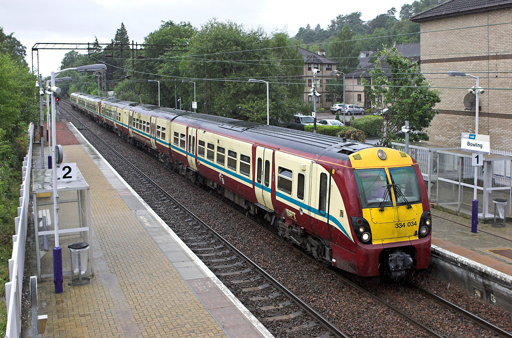 334034 and 334038, Bowling 17/7/2011<br /> 2F62 1709 Balloch-Motherwell