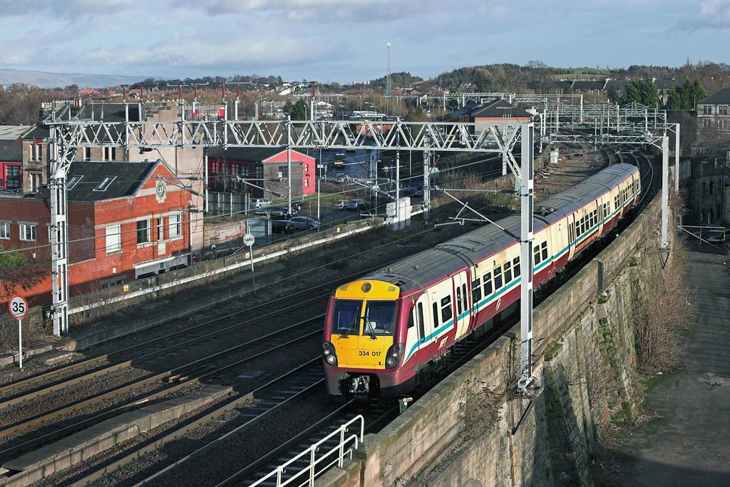 334017 Paisley Gilmour Street 18/1/2011<br /> 2K25 1330 Glasgow Central-Ayr
