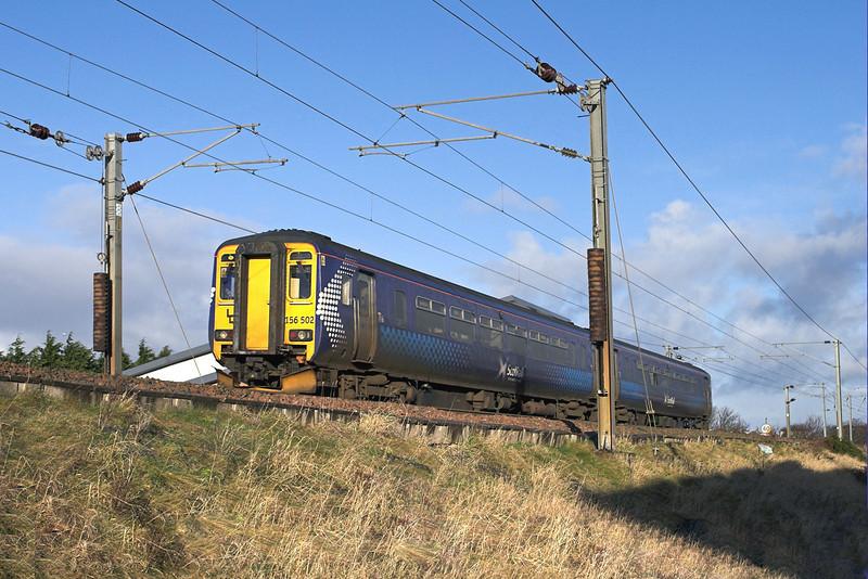 156502 Troon 18/1/2011<br /> 1K96 1005 Stranraer-Glasgow Central