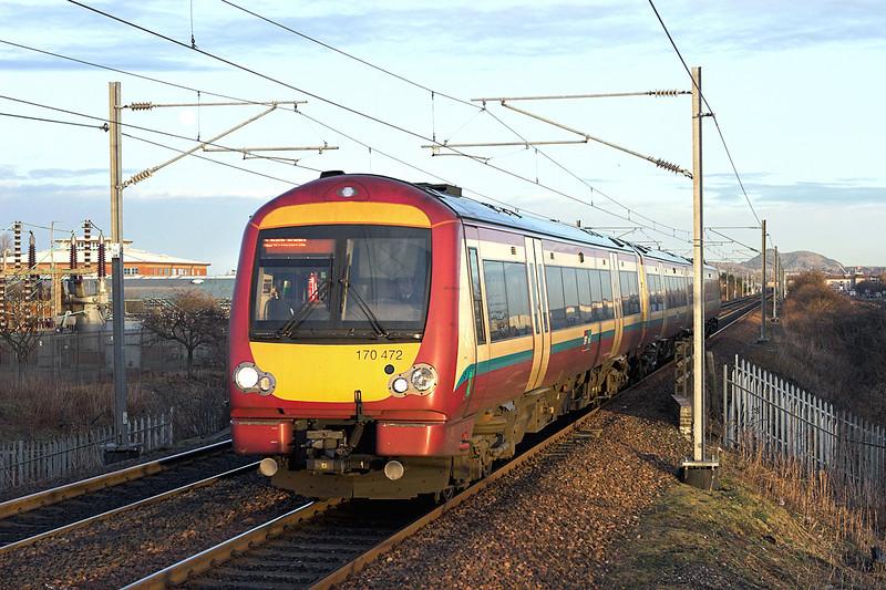 170472 Edinburgh Park 18/1/2011<br /> 2P57 1531 Edinburgh-Dunblane