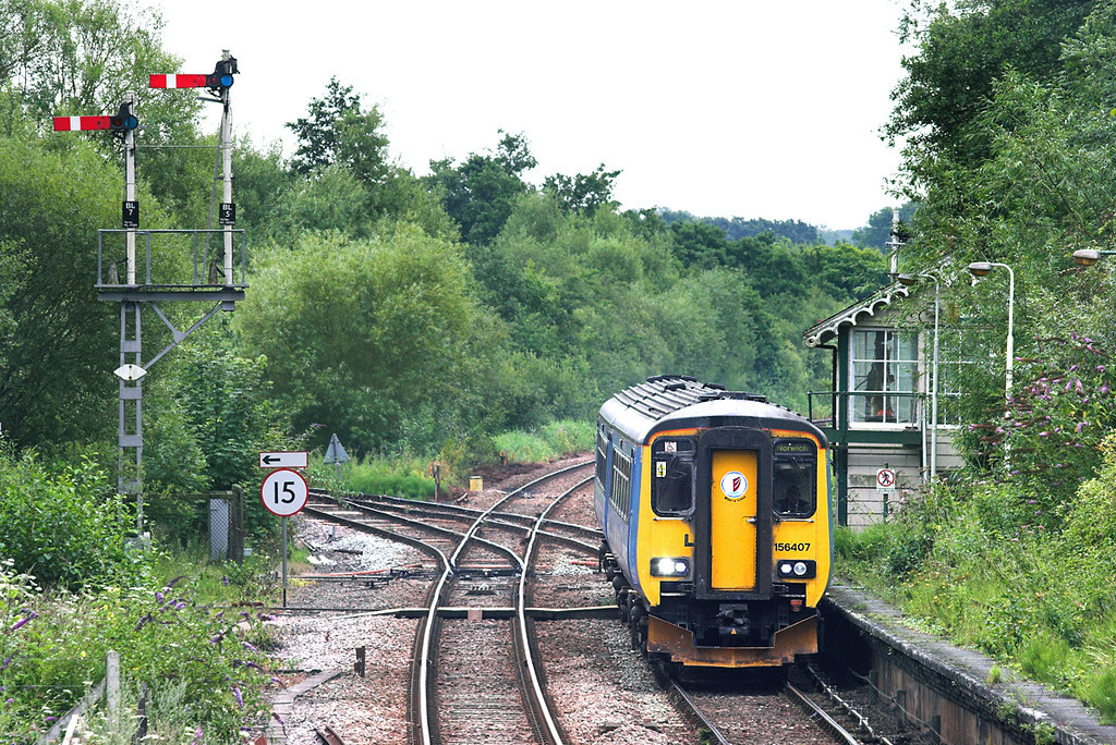 156407 Brundall 21/7/2011<br /> 2P19 1217 Great Yarmouth-Norwich