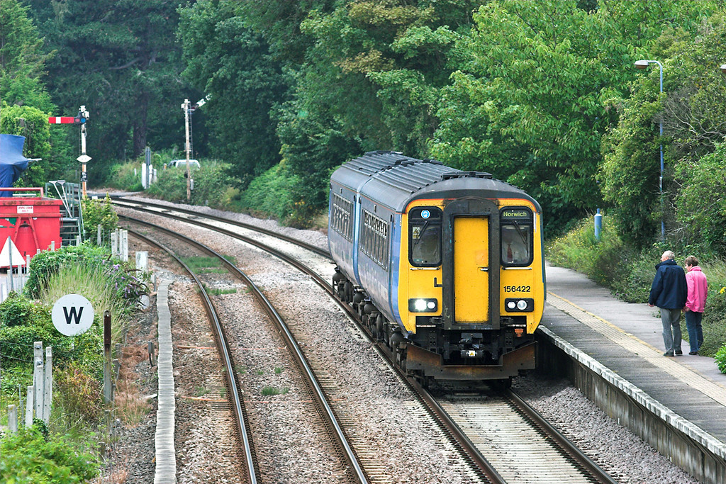 156422 Brundall 21/7/2011<br /> 2P20 1236 Norwich-Great Yarmouth