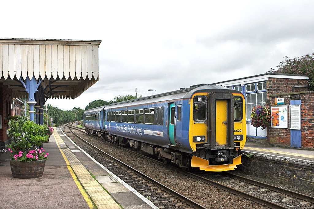 156422 Acle 21/7/2011<br /> 2P21 1317 Great Yarmouth-Norwich