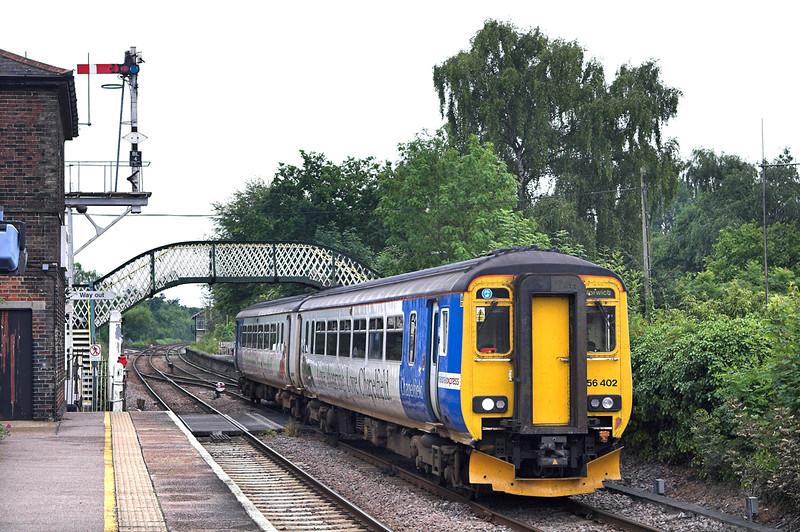 156402 Brundall 21/7/2011<br /> 2J75 1150 Lowestoft-Norwich