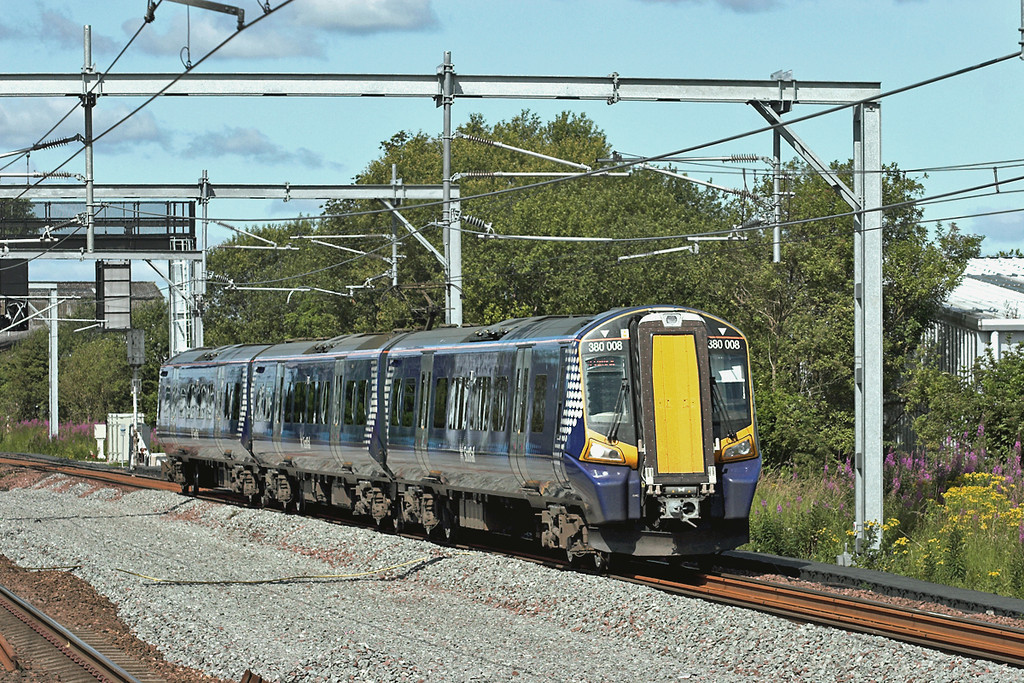 380008 Hillington West 23/7/2011<br /> 1G28 1023 Gourock-Glasgow Central
