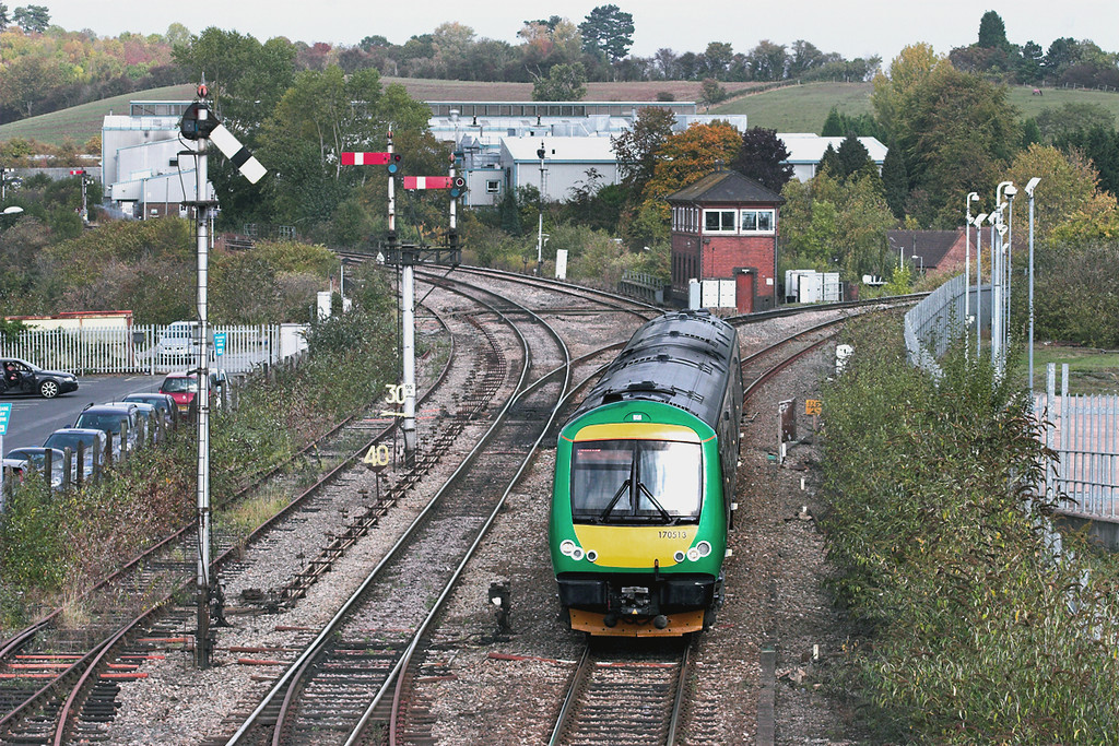 170513 Droitwich Spa 23/9/2011<br /> 1V28 1349 Birmingham New Street-Hereford