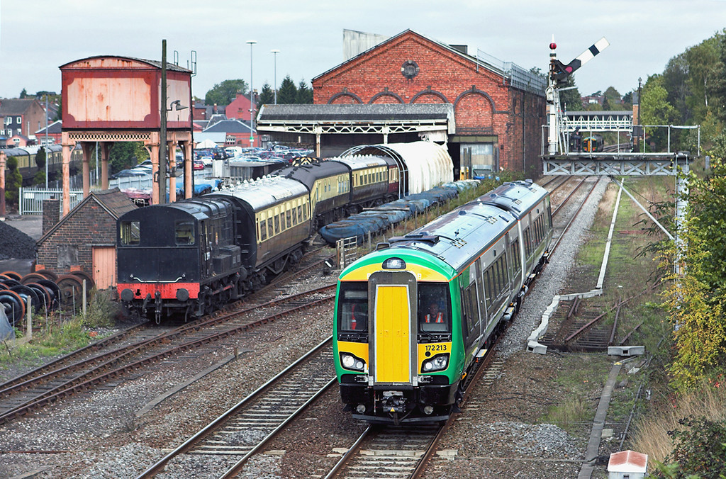 172213 Kidderminster 23/9/2011<br /> 5T40 1216 Tyseley TMD-Worcester Shrub Hill