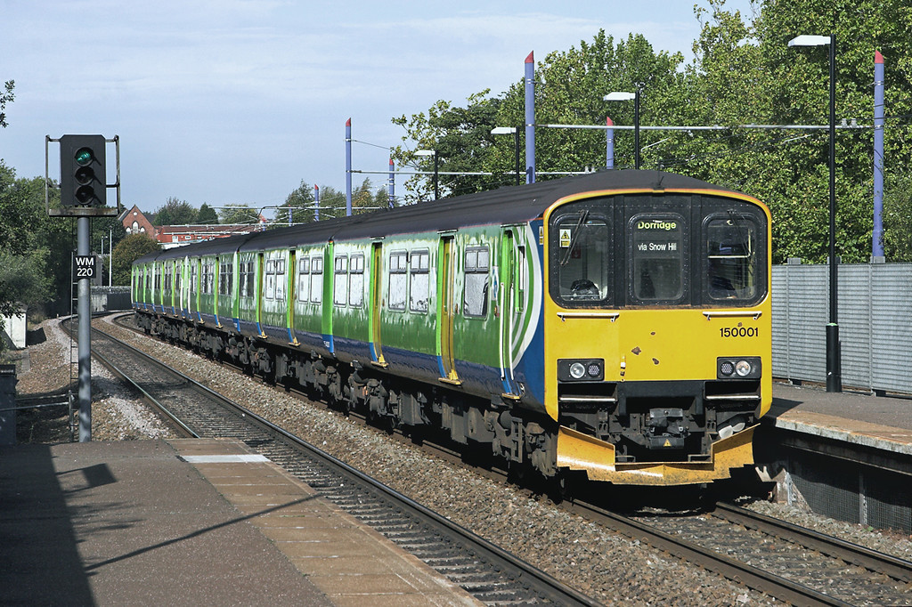 150001 and 150216, Jewellery Quarter 23/9/2011<br /> 2C18 0936 Kidderminster-Dorridge