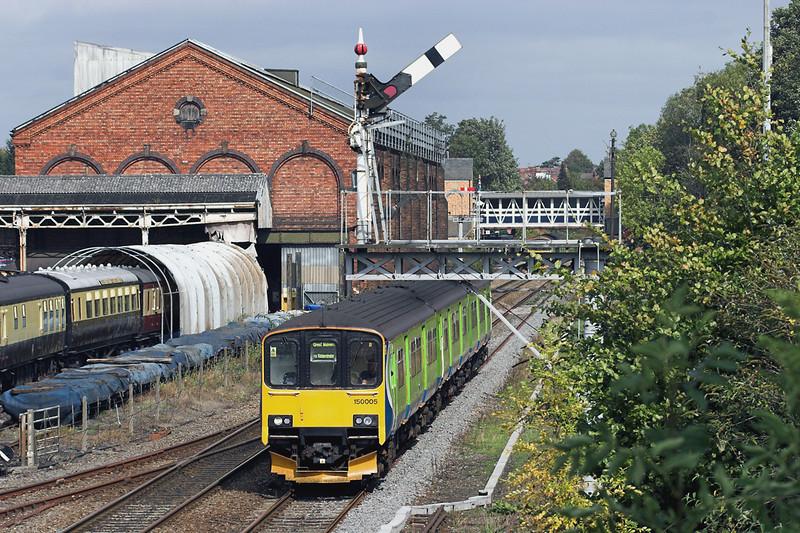 150005 Kidderminster 23/9/2011<br /> 2V24 1145 Dorridge-Great Malvern