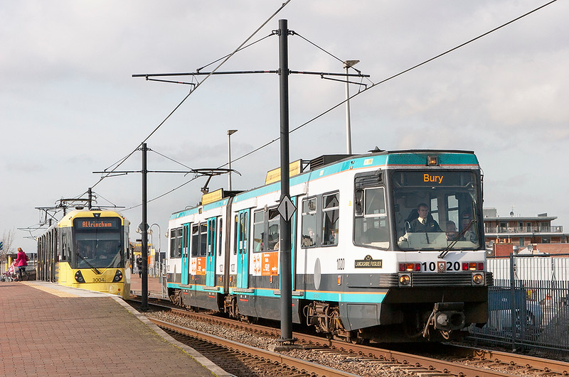 1020 and 3004, Deansgate-Castlefield 24/2/2011