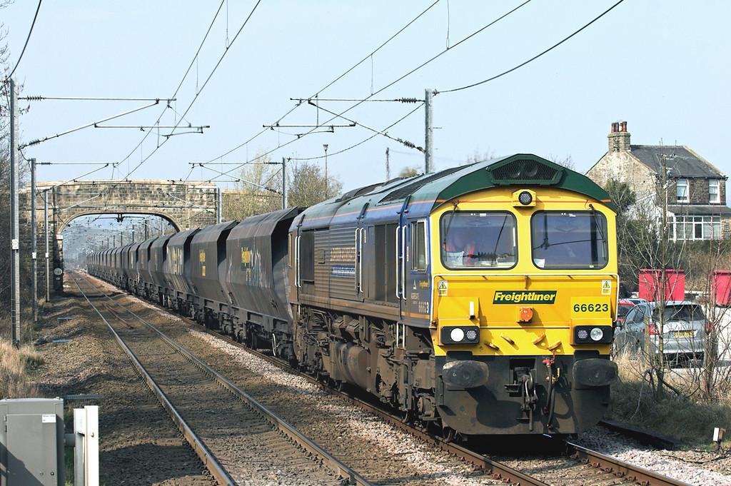 66623 Cononley 24/3/2011<br /> 6E73 0550 Hunterston-West Burton PS
