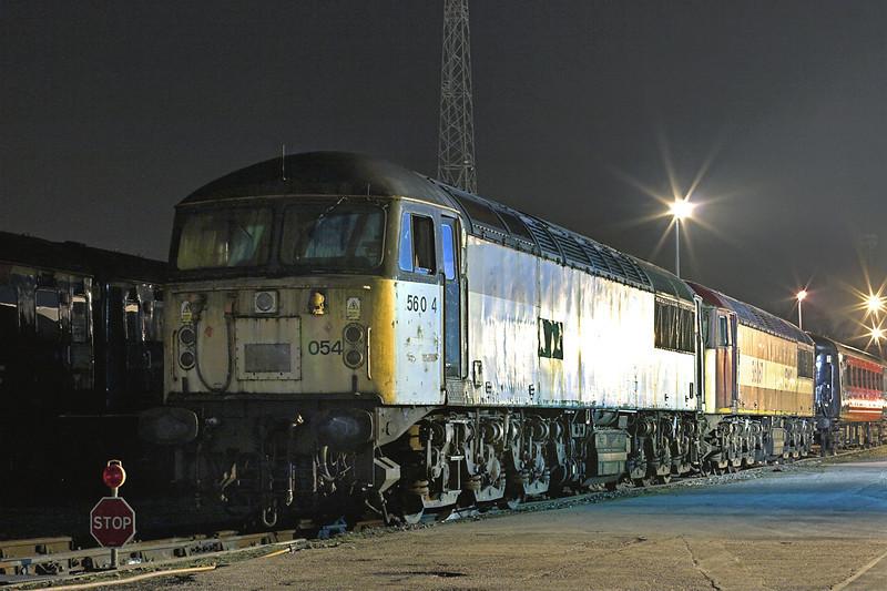 56054 and 56067, Crewe 25/3/2011