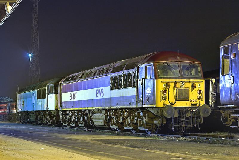 56067 and 56054, Crewe 25/3/2011