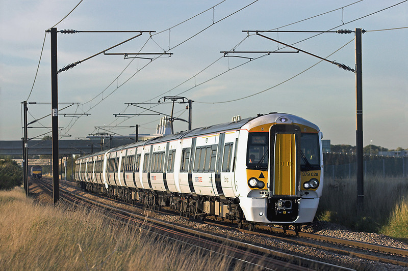 379029 and 379030, Shepreth Branch Junction 27/9/2011<br /> 2H53 1751 Cambridge-London Liverpool Street