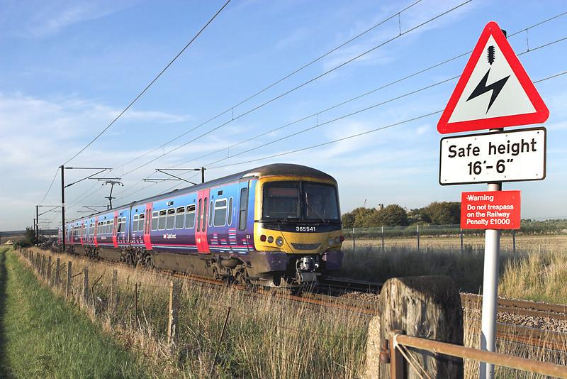 365541 Shepreth Branch Junction 27/9/2011<br /> 2C21 1606 London Kings Cross-Cambridge