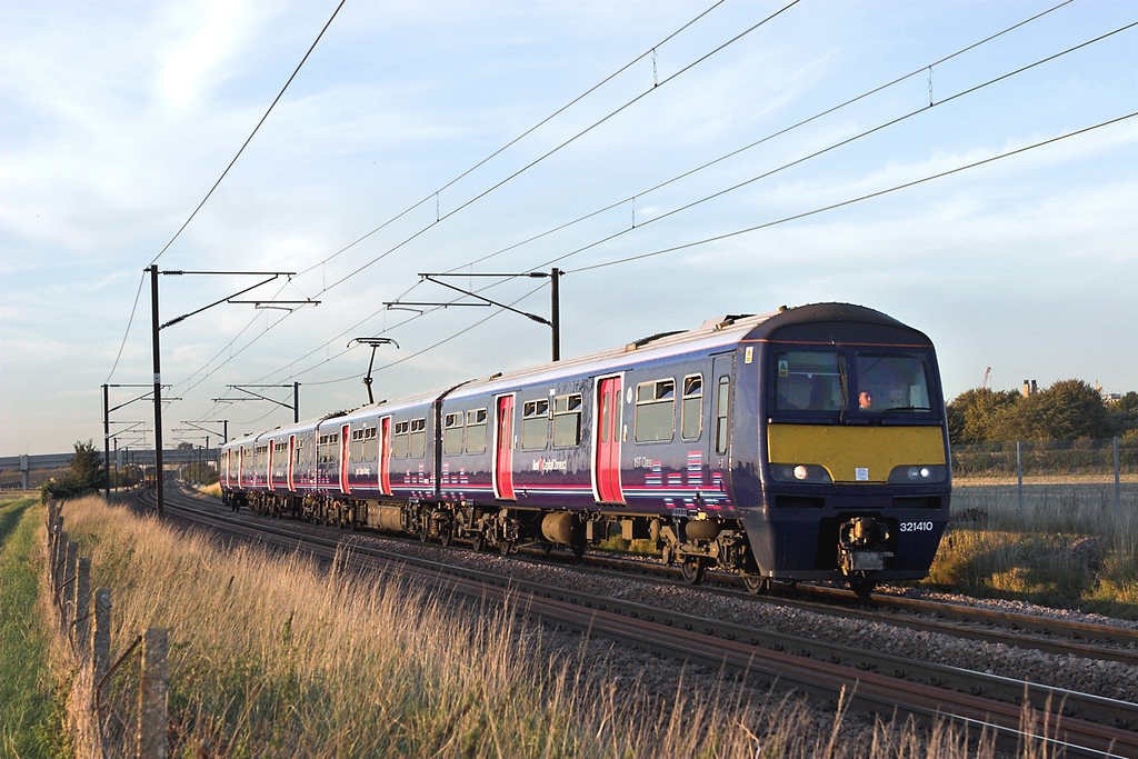 321410 Shepreth Branch Junction 27/9/2011<br /> 1C74 1815 Cambridge-London Kings Cross