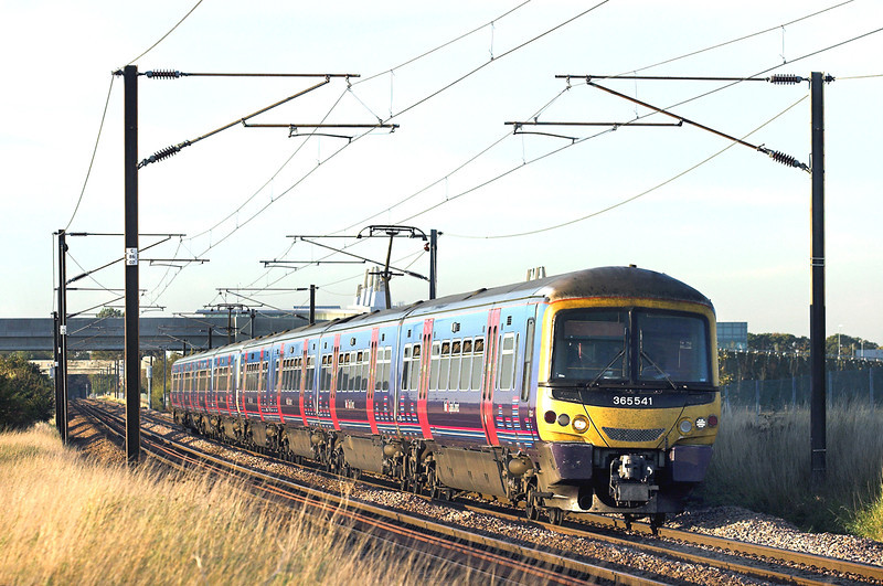 365541 and 365506, Shepreth Branch Junction 27/9/2011<br /> 1T73 1724 Ely-London Kings Cross
