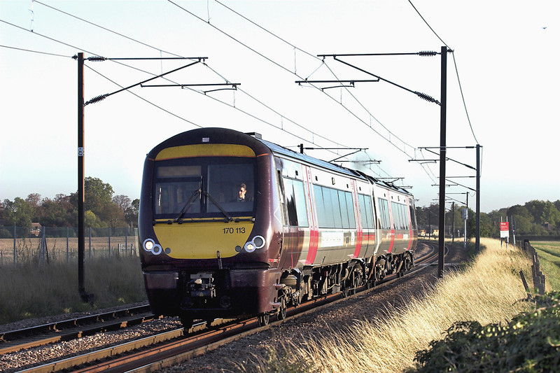 170113 Shepreth Branch Junction 27/9/2011<br /> 1N65 1718 Stanstead Airport-Bimingham New Street