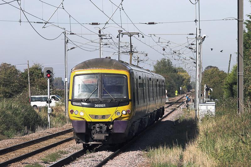 365501 Watlington 27/9/2011<br /> 1T69 1456 Kings Lynn-London Kings Cross