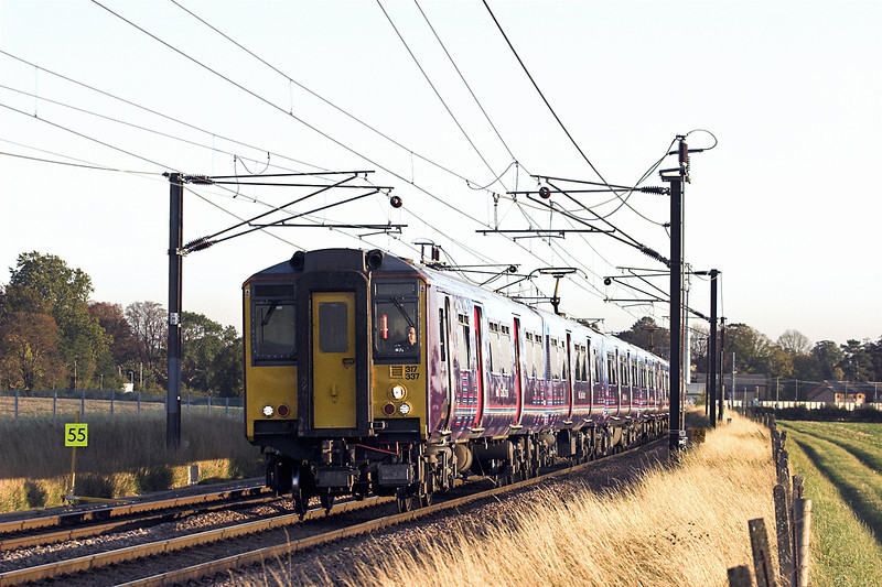 317337 and 317343, Shepreth Branch Junction 27/9/2011<br /> 1T21 1714 London Kings Cross-Ely