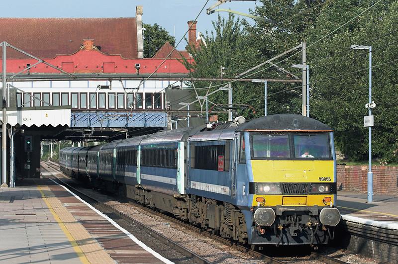 90005 Seven Kings 28/7/2011<br /> 1P57 1730 Norwich-London Liverpool Street