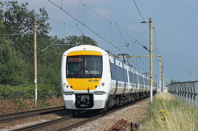 357206 and 357205, Leigh-on-Sea 28/7/2011<br /> 1B63 1520 Shoeburyness-London Fenchurch Street