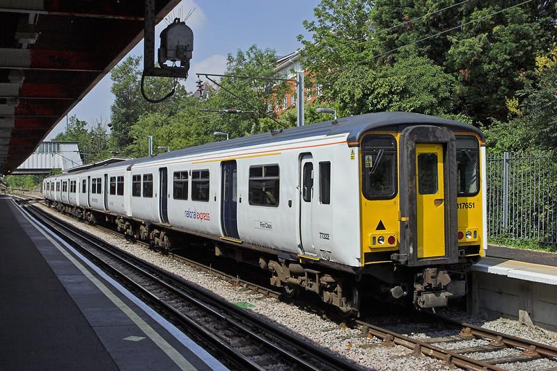 317651 Upminster 28/7/2011<br /> 2V27 1154 Upminster-Romford