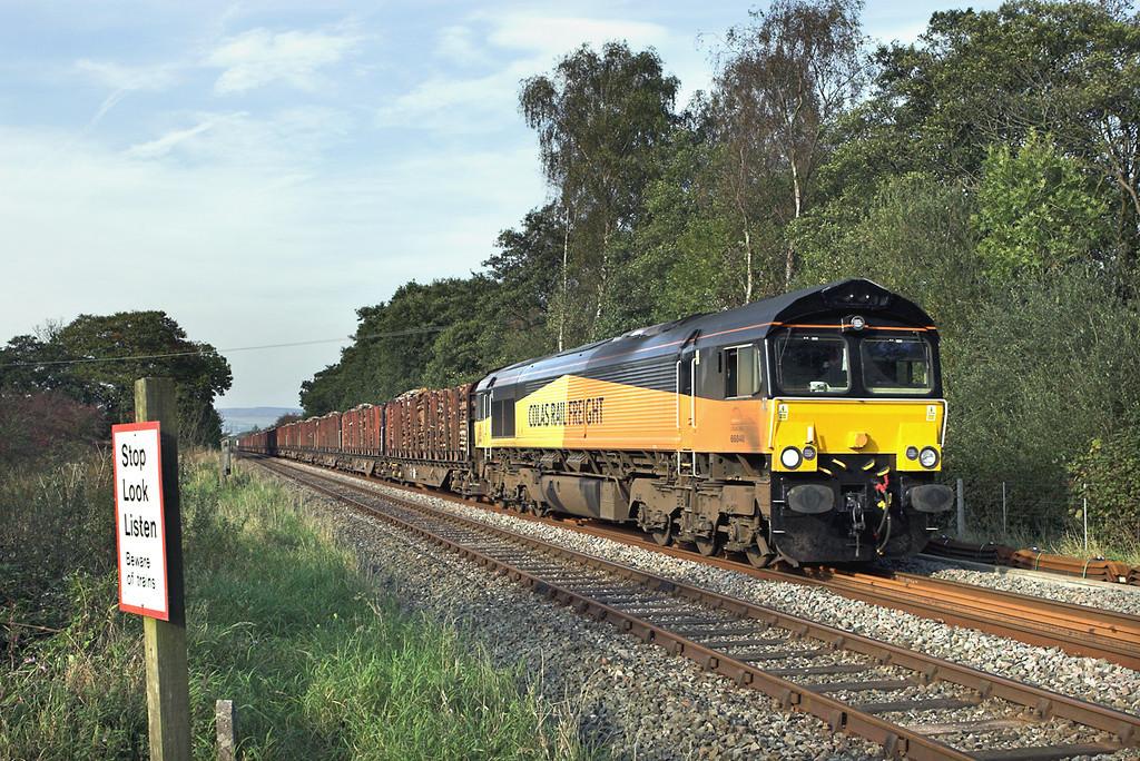 66848 Barrow 30/9/2011<br /> 6J37 1250 Carlisle Yard-Chirk