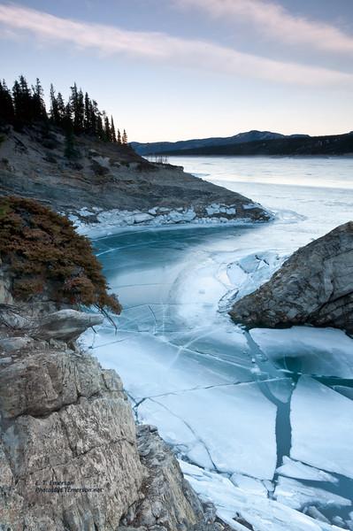 Abraham Lake Ice Formations