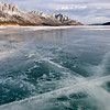 Abraham Lake Ice Formations