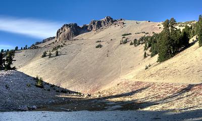 The trail to Mt. Lassen's summit.