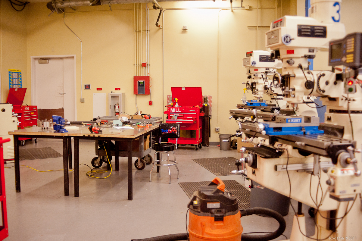Metal machining shop. [TechShop San Jose]
