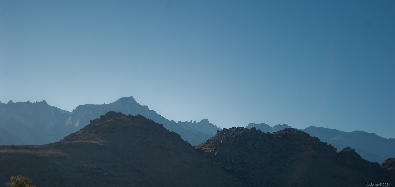 Mt. Whitney, as seen from just south of Lone Pine.