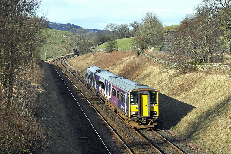 153307 and 158909, Stainforth 1/2/2012<br /> 2H89 1155 Carlisle-Leeds