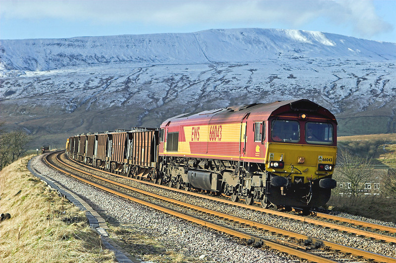 66043 Ribblehead 1/2/2012<br /> 6K05 1218 Carlisle Yard-Basford Hall