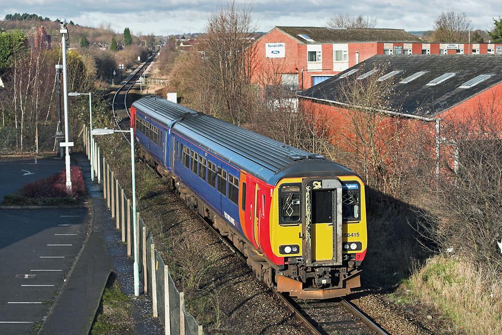 156415 Hucknall 1/12/2012<br /> 2D09 1137 Mansfield Woodhouse-Nottingham