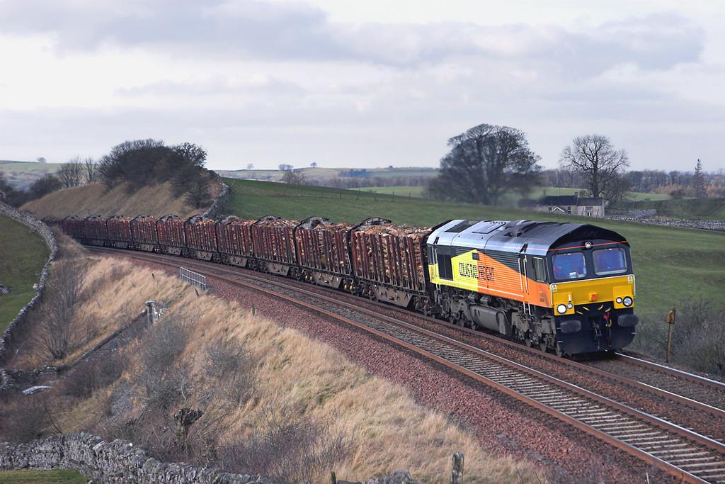 66849 Waitby 2/2/2012<br /> 6J37 1244 Carlisle Yard-Chirk