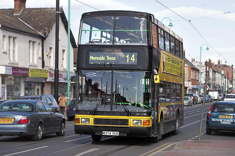 374 M374SCK, Lord Street Fleetwood 4/4/2012