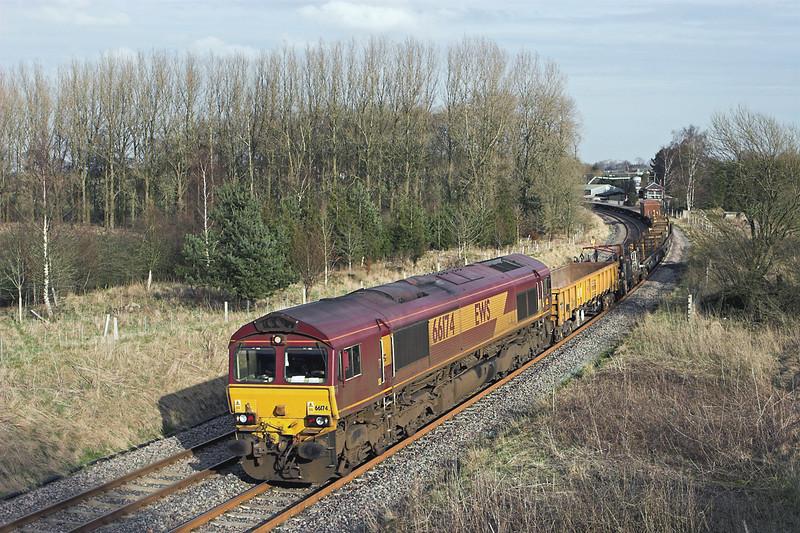 66174 Gisburn 6/3/2012<br /> 6K05 1218 Carlisle Yard-Basford Hall