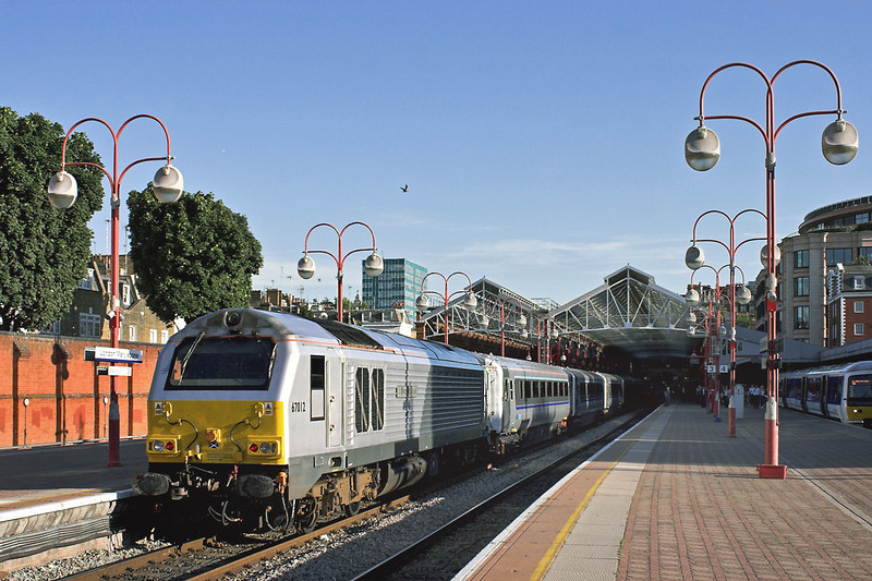 67012 London Marylebone 7/9/2012<br /> 1H53 1555 Birmingham Moor Street-London Marylebone
