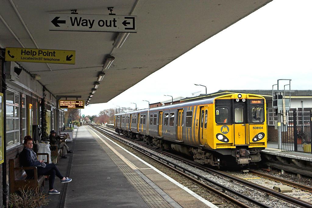 508104 Hoylake 9/1/2012<br /> 2W31 1406 West Kirby-West Kirby <br /> (via Liverpool Central)