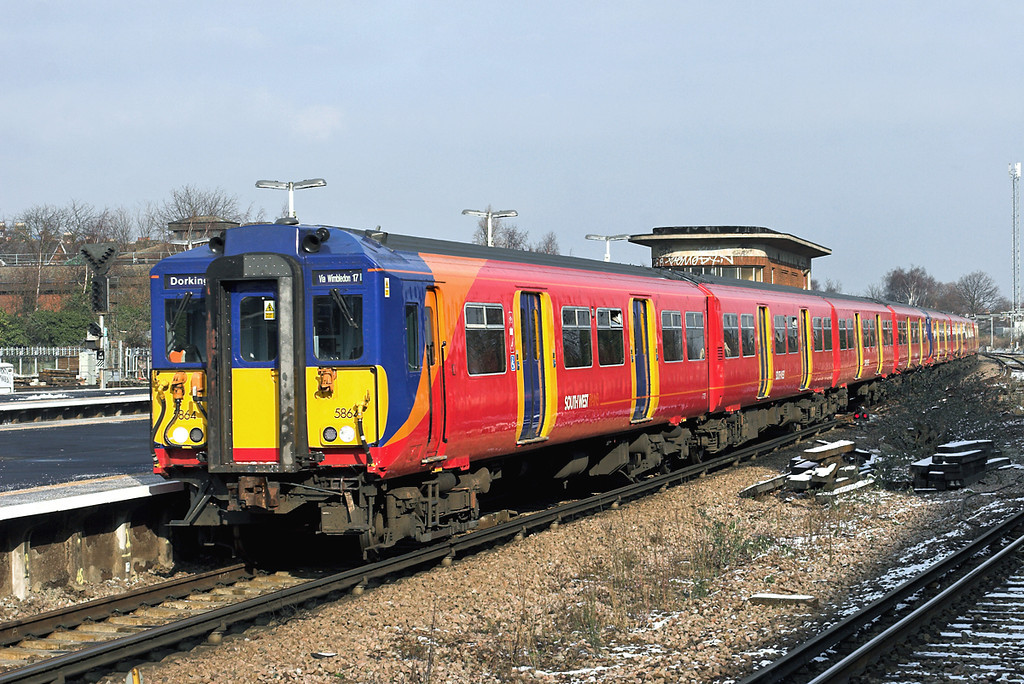 5864 and 5741, Wimbledon 10/2/2012<br /> 1D31 1254 London Waterloo-Dorking